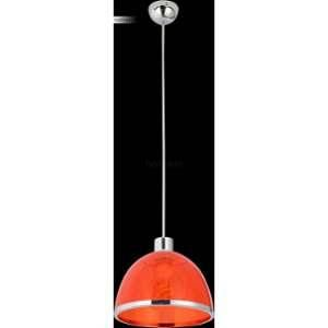 Globo Lighting GLOBO Suspension Nickel mat L23 x l23 x h120 cm - Rouge - Suspension nickel mat - acrylique rouge - A:230 - H:1200 - Ampoule non incluse - 1xE27 40W 230V
