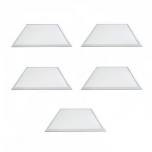 Vision-El LOT 5 x DALLE LED 38W (340W) 600X600 BLANC CHAUD 3000°K Plafonnier Eclairage LED