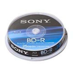 Sony 10BNR25SP - Spindle de 10 BD-R 25 Go 6x surface imprimable jet d'encre