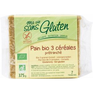 Ma vie sans gluten Pain Bio prétranché aux 3 céréales (375g)