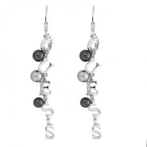 Guess UBE51451 - Boucles d'oreilles en métal argenté pour femme