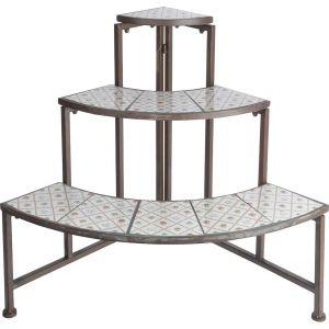 Esschert design Quart d'étagère en céramique et métal Botanicae
