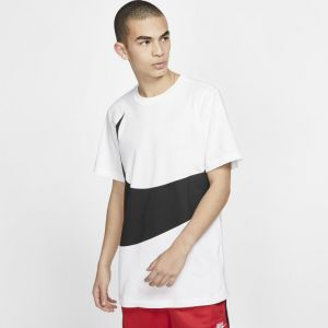 Nike Tee-shirt Sportswear Swoosh pour Homme - Blanc - Taille L - Homme