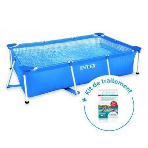 Intex Pack Piscine tubulaire Metal Frame Junior 2.20 x 1.50 x 0.60 m + Traitement pour piscines < 10 m³