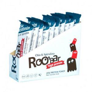 Roo'bar Barre protéinée vegan Spiruline Chia