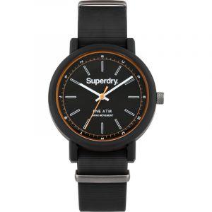 Superdry SYG197B Montre Bracelet Homme Silicone Noir