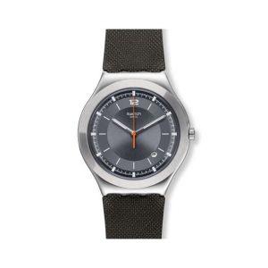 Swatch Homme Analogique Quartz Montre avec Bracelet en Silicone YWS425