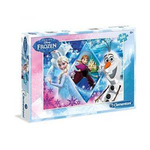 Clementoni Puzzle La Reine Des Neiges Elsa Anna et Olaf (100 pièces)