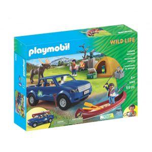 Playmobil 5669 - Wild Life : Campeur Pick-Up et tente