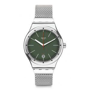 Swatch Homme Digital Automatique Montre avec Bracelet en Acier Inoxydable YIS407GA