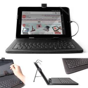"""Duragadget Etui aspect cuir avec clavier intégré, port de maintien et stylet pour Asus Vivobook S400ca, Memo Pad et Eee Pad Transformer TG101 10,1"""""""