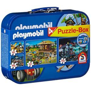 Schmidt Coffret puzzles Playmobil 2 x 60 et 2 x 100 pièces