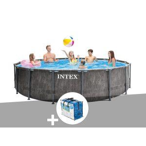 Intex Kit piscine tubulaire Baltik ronde 5,49 x 1,22 m + Bâche à bulles