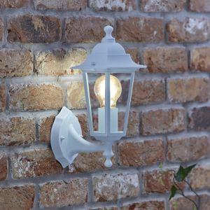 Biard Applique Murale Lanterne LED Éxtérieur Éclairage Vintage - Ampoule E27 - Peinte Blanche - Gamme Toulon