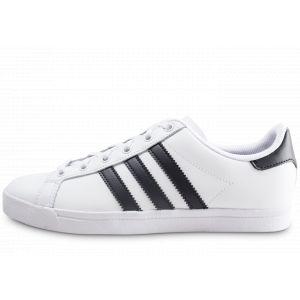 Adidas Enfant Coast Star Blanche Et Noire Junior Baskets