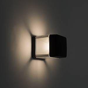 Qazqa Applique murale moderne noire avec LED 3000K - Elisa