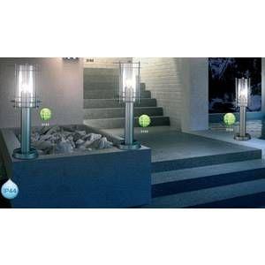 Globo Lighting Lampe d'extérieur Globo MIAMI Acier inoxydable, Transparent, 1 lumière Moderne/Design/Classique Extérieur MIAMI