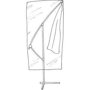 Hexoutils Housse de protection renforcée pour parasol déporté - Ø 100x H225cm