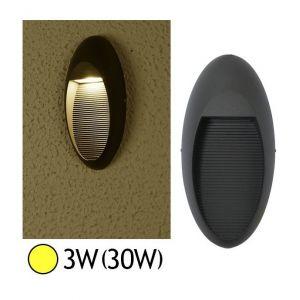 Vision-El Applique murale LED COB 3W (30W) IP54 blanc chaud forme ovale