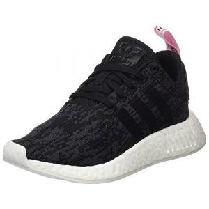 Adidas NMD_R2, Baskets Femme, Noir (Core Black/Core Black/Wonder Pink), 36 EU