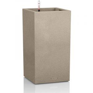 Lechuza Pot carré haut beige gamme Canto color dimensions L40xl40xH75,8 cm