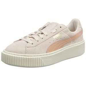 Puma Suede Platform SNK Jr, Sneakers Basses Mixte Enfant, Rose (Pearl-Peach Beige), 38 EU