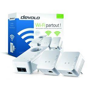 Devolo 9632 - Pack de 3 Adaptateurs CPL dLAN 550 WiFi sans prise gigogne (x3)