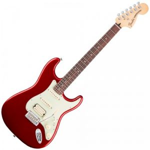 Fender Deluxe Stratocaster HSS Candy Apple Red PF + housse