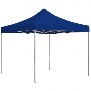 VidaXL Tente de réception pliable Aluminium 3 x 3 m Bleu