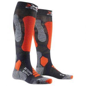 X-Socks Ski Touring Silver 4.0 Anthracite/Orange Chaussettes de ski