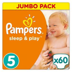 Pampers Sleep & Play taille 5 (11-23 kg) - 60 couches