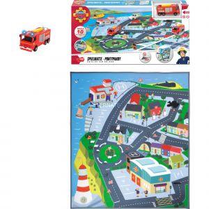 Dickie Toys Pompier Sam Playmat Kit de jeu