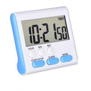 Qumox Minuterie de cuisine numérique avec alarme sonore et grand écran LCD