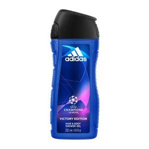 Adidas Gel Douche Corps et Cheveux 2 en 1 - Uefa Champions League Victory Edition - 250 ml