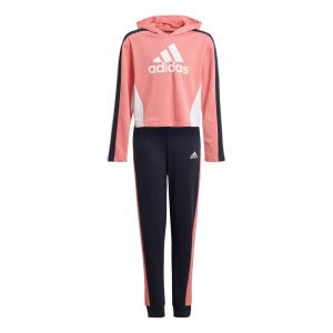 Adidas Survêtement HoodedCROP TS Rose - Taille 13-14 Ans