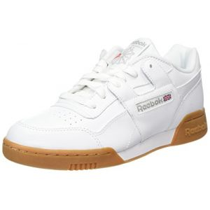 Reebok Workout Plus, Chaussures de Fitness Homme, Blanc (White/Carbon/Classic Red Royal/Gu 000), 44.5 EU