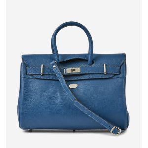 Mac Douglas Sac à main Sac à main en cuir ref_mac33323 V57 41*30*14 bleu - Taille XS