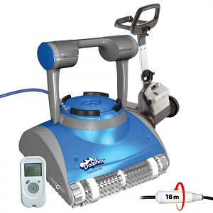 Dolphin Master m5 Robot electrique de piscine fond, parois et ligne d'eau avec télécommande et chariot