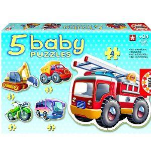 Educa 5 Baby Puzzles : Les véhicules