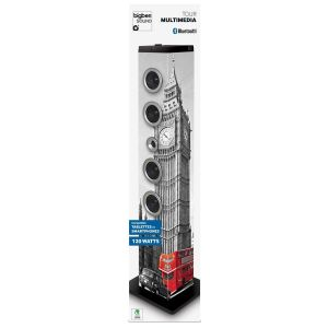 Bigben Tower London - Tour multimédia Bluetooth 2.1 40W RMS FM