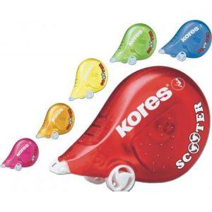 Kores KR84873 - Roller correcteur Scooter, 4,2 mm x 8 m, coloris assortis
