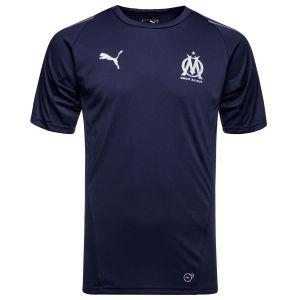 Puma Haut d'Entraînement à Manches Courtes Olympique Marseille Garçon Bleu Marine - Taille UK 116