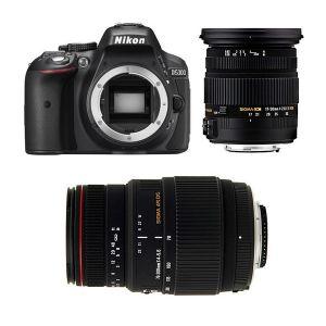 Nikon D5300 (avec 2 objectifs Sigma 17-50mm et Sigma 70-300mm)