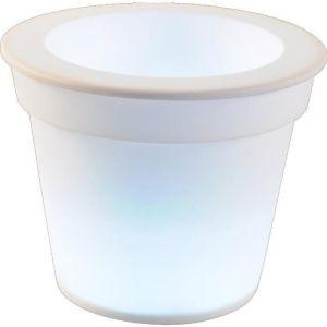Homea Pot lumineux en plastique à piles
