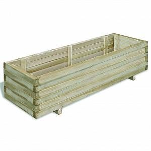 VidaXL Jardinière en bois rectangulaire 120 x 40 x 30 cm -