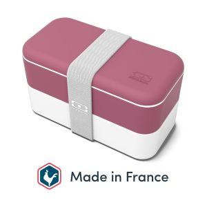 monbento MB Original bento Box Blush Made in France - Lunch Box hermétique 2 étages - Boîte Repas idéale pour Le Travail/école - sans BPA - Durable et sûre