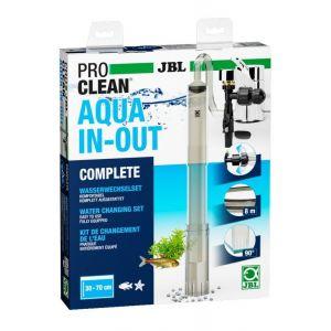 JBL PROCLEAN AQUA IN-OUT COMPLETE 6142100, Kit de Changement d'eau pour Aquariums, Comprenant un Nettoyeur de fond, un Tuyau et une Pompe d'Aspiration, Connexion au robinet d'eau