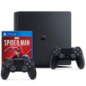 Sony PlayStation 4 Slim (1 To) + DualShock v2 + Spider-Man