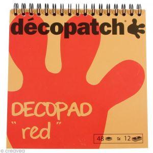 decopatch Bloc Decopad Rouge - 15 x 15 cm - 48 feuilles