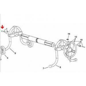 Procopi 1861070 - Lardons et bague de blocage pour enrouleur de bâche de piscine Delta